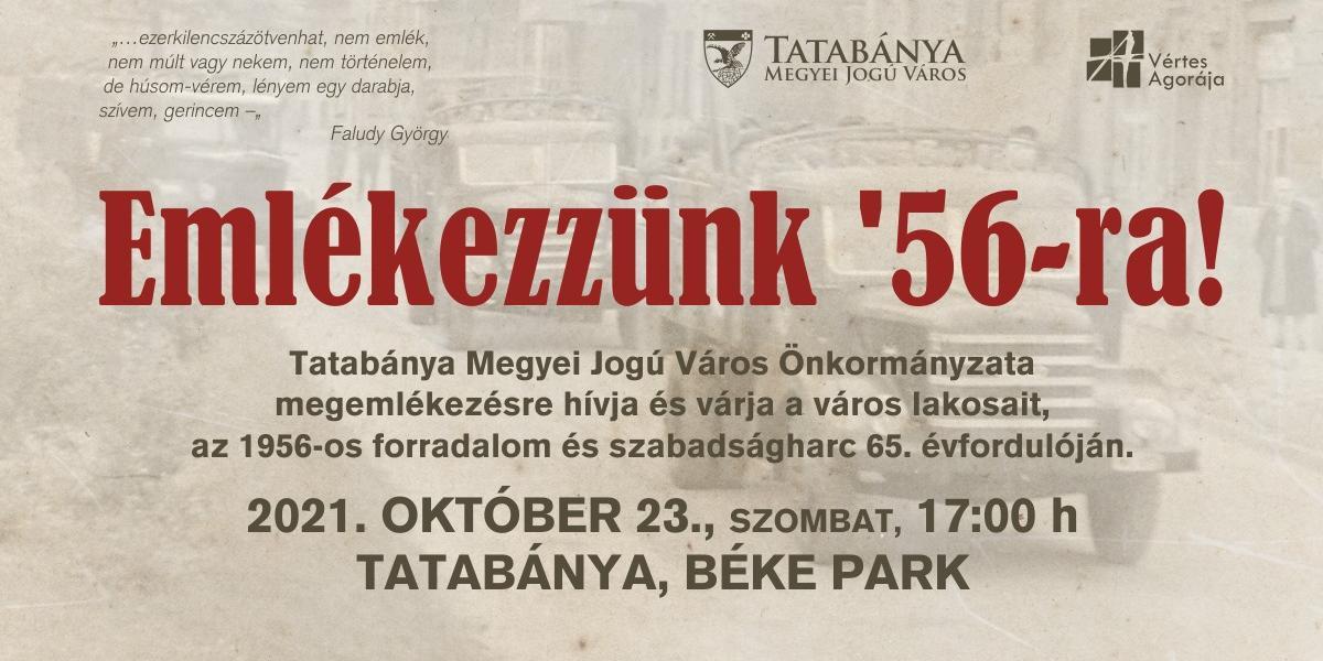 Megemlékezés az 1956-os forradalom és szabadságharc 65. évfordulóján